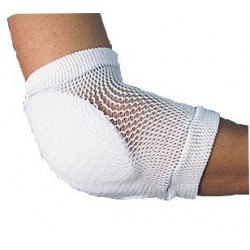 universal size open-mesh tubular sleeve + seamless in critical areas+ cool, padded inner..