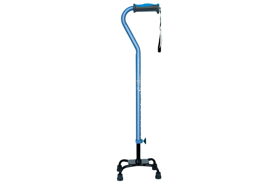 For people who need extra help with balance, our quad cane offers added support in a lightweight des..