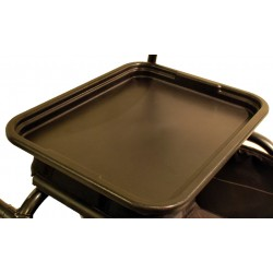 Practical for resting lightweight items, the tray can easily be attached to the rollator in seconds...