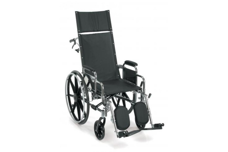 The Breezy EC 4000R Lightweight Reclining Wheelchair is a folding chair, weighs 43-lbs and features ..