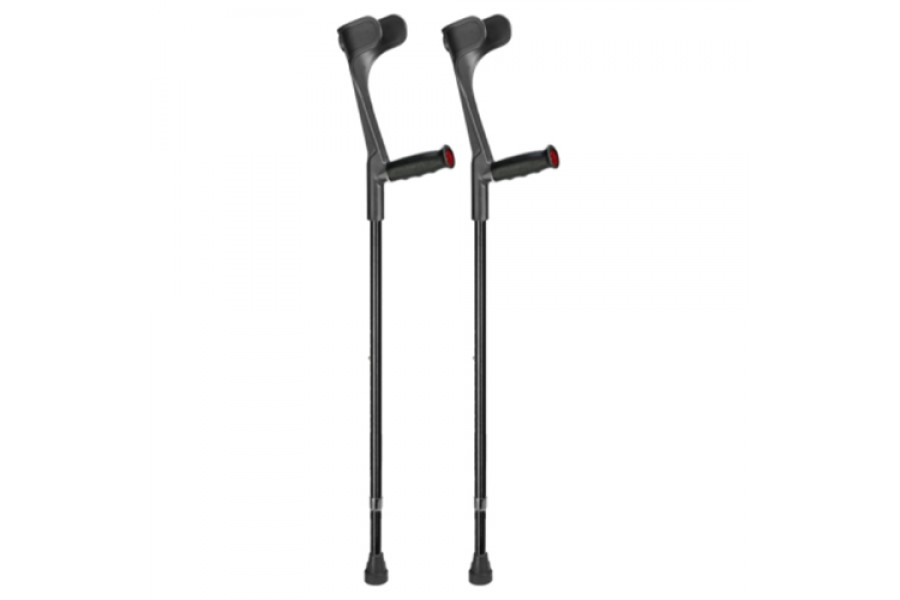 The Ossenberg Classic Forearm Crutch with Anatomic Soft Grip and Open Cuff has an adjustable walker ..