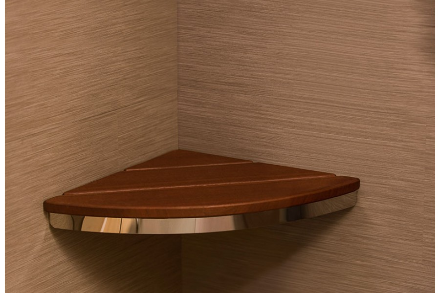 Invisia's luxurious bamboo Corner Seat is the perfect seating option for your shower. The Corner Sho..