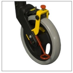Slow down brakes prevent the Nexus3 rollator from