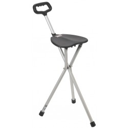 Provides a comfortable seat to rest on when open, and a sturdy support cane when closed (Figure A)Ma..