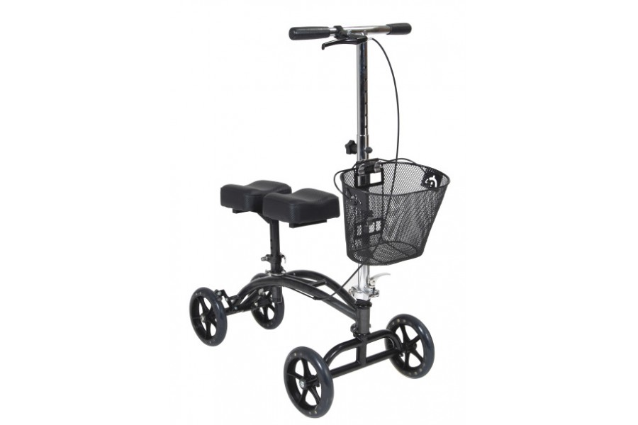 Knee walker can be steered for increased maneuverabilityIdeal for individuals recovering from foot s..
