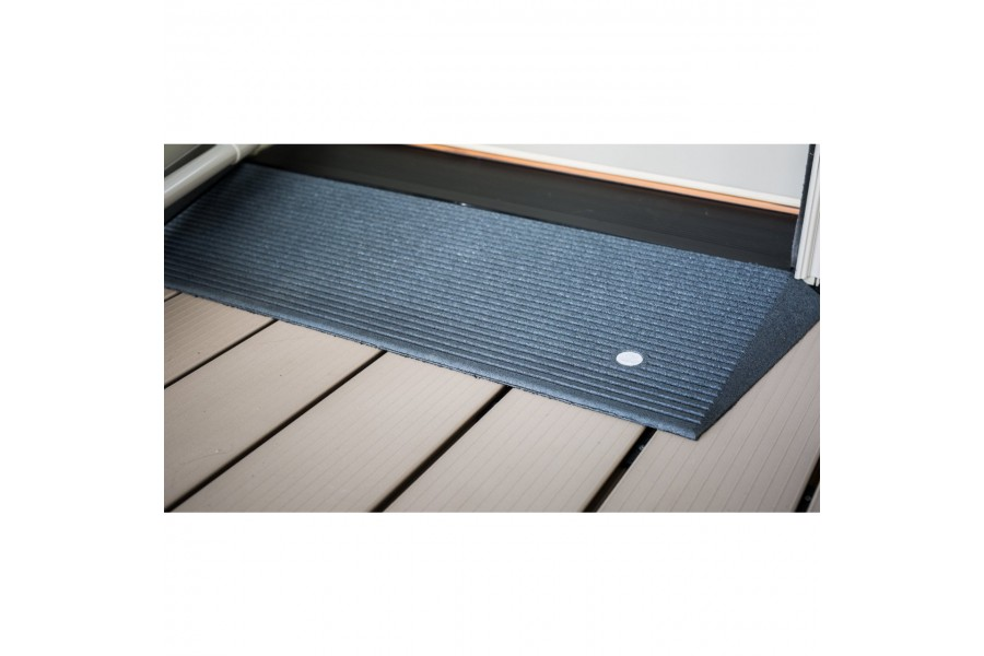 The TRANSITIONS® Angled Entry Mat accommodates doorways, raised landings, and floor offsets to provi..