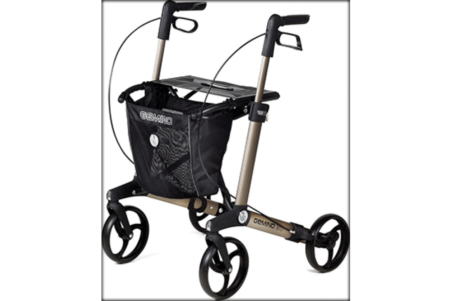 Wherever you go, you'll feel confident with the 100% rollator Gemino 30. Its stable frame and excell..
