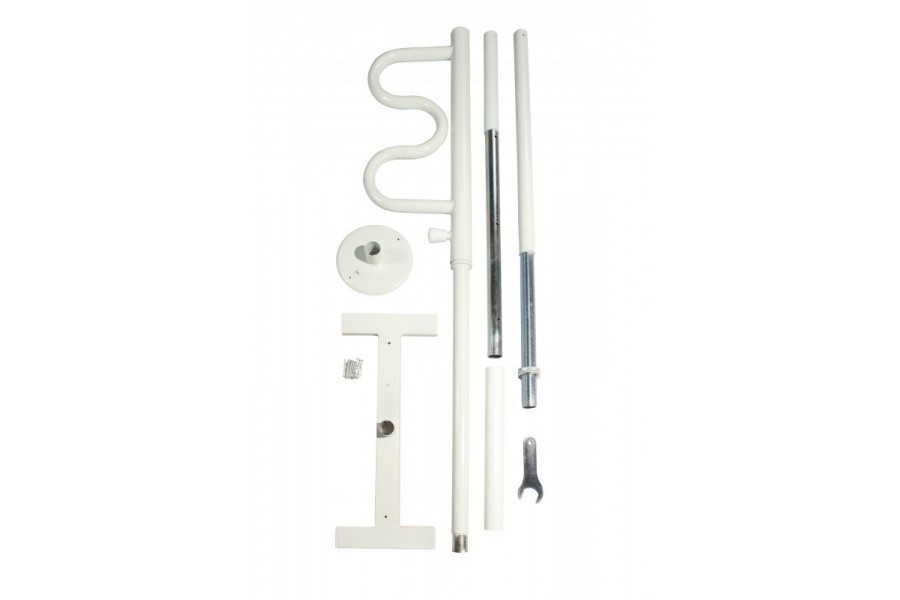 2-IN-1: Transfer pole & curve grab bar that rotates 360° & locks every 45°HEIGHT ADJUSTABLE:..