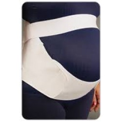 back and abdominal support + constructed of durable elastic andnylon + adjustable hook and loo..