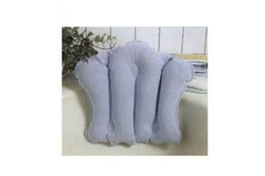 INFLATABLE BATH CUSHION. Here is a great little luxury item for the bath tub. Great for young and ol..